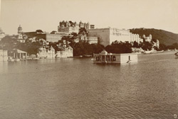Palace and Island Mohanmandir from the west of lake [Udaipur]